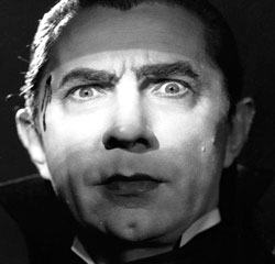 Image of Dracula giving the evil eye