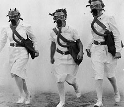 Image of nurses in gas masks