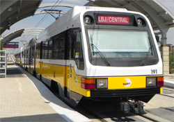 Image of the DART Rail train